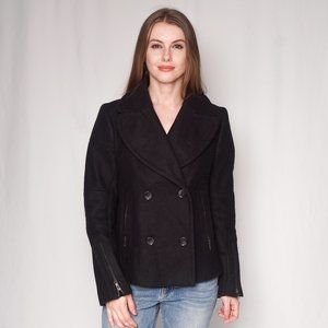 AMERICAN RETRO Double-Breasted Wool-Blend Jacket
